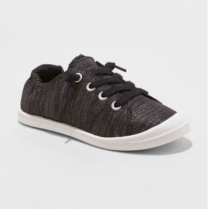 Mad Love Girls' Shana Canvas Metallic Sneakers